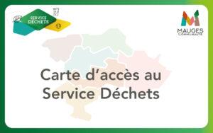 carte d'accès en déchèteries