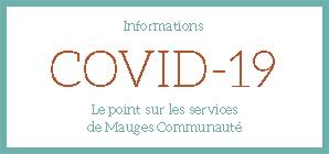 INFO COVID : continuité du service public