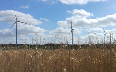 Les éoliennes du parc de l'Hyrôme sont en service